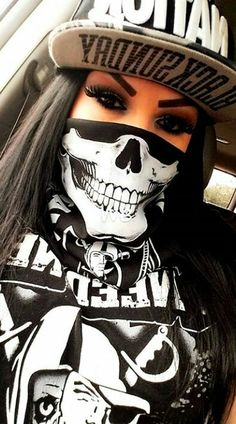 2020 The Most Creative And Special Mask Design - Tattoo Gesicht, Chola Girl, Fille Gangsta, Catrina Tattoo, Cholo Art, Chola Style, Raiders Girl, Thug Girl, Lowrider Art
