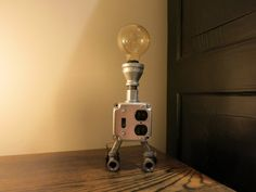 Switch and Plug Industrial Chic Table Lamp by RizzoAndCrane