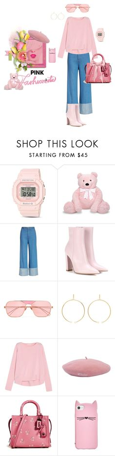 """Casually pink"" by fashioncoloristnyc ❤ liked on Polyvore featuring G-Shock, Melissa & Doug, Sea, New York, Gianvito Rossi, Rejina Pyo, Chloé, OPI, Antonio Berardi, Don and Coach 1941"