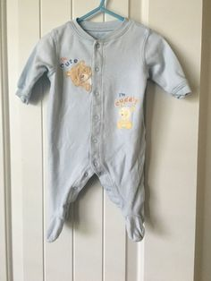 100% Cotton Boys 0-3 months One Piece Outfit by Carter's Blue by Child of Mine #ChildofMine #Everyday