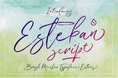 Esteban Script by JROH Creative on @creativemarket