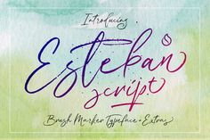 Esteban Script by JROH Creative on @creativemarket