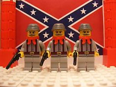 LEGO Veteran Confederate Soldier's pack of 3x with revolvers
