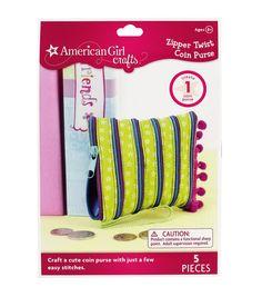 American Girl Zipper Twist Coin Purse Kit