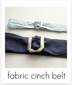 Fabric Cinch Belt Tutorial