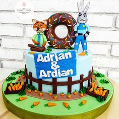 Image result for zootopia birthday cake
