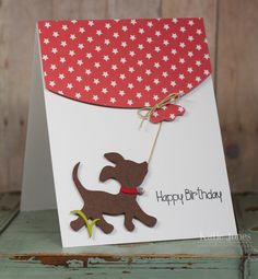Crafting with Katie: Big Balloon Birthday Card