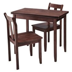 3-pc. Expandable Dining Set w/ Storage - Dark Tobacco.Opens in a new window