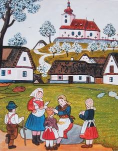 Josef Lada - Czech writer, painter and illustrator. Illustration Children, Illustration Art, Heart Of Europe, Naive, Czech Republic, Prague, Childrens Books, Illustrators, Folk Art