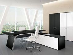 Büroeinrichtung design  Arundel Executive Desk Zebrano | Right Return | Modern Digs ...