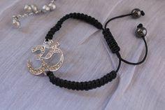 Ohm Aum Om Braided Cord Bracelet