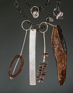 """Neckpiece: No. 5 in Tribal ...""   Silver & Stone Necklace  $ 650"