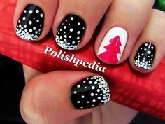 Easy Christmas Nail Art With Scotch Tape - Cute Christmas Nail Art With Scotch Tape