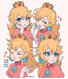 Super Mario Princess, Nintendo Princess, Mario Fan Art, Super Mario Art, Super Mario Brothers, The Legend Of Zelda, Queen Anime, Princesa Peach, Anime Fnaf