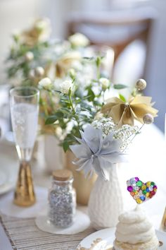 silver and gold table :: pretty!