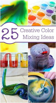 Fun Ideas for Mixing Colors - great STEAM activities for kids
