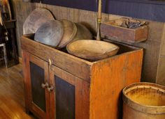 How many hours were spent working at this primitive dry sink? <> (old wood, history, timeworn wooden wonders)