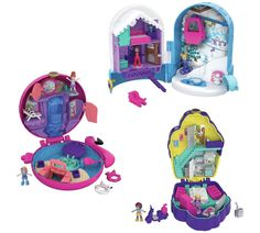 Multi-colour Various Styles Hot Sale Polly Pocket Fry38 Pocket World Flamingo Floatie Compact Play Set Dolls, Clothing & Accessories