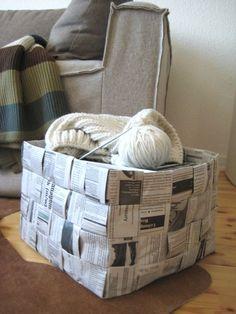 Endlich die Anleitung für den Zeitungskorb...