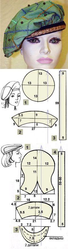 Как сшить берет своими руками | Выкройка берета | Sewing _ clothes…