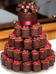chocolate raspberry pyramid