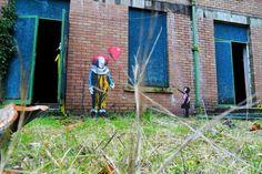 JPS vs Banksy – à Barrow Gurney Mental Hospital.