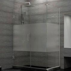 Dreamline Unidoor Plus 42 W X 30 38 D Hinged Shower Enclosure Finish Brushed