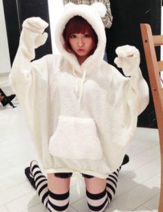 Japan's super cute Little Bear gloves blouse + skirt set_Set_★ Makiko Online Shop ☆ Japan Gal's Collection ★