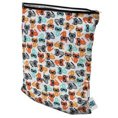 Planet Wise Wet Bag - The best for cloth diapering or dirty baby clothes.  No leaks, no smell, super cute.  Small = Running Errands (1-2 diapers).  Medium = Daycare (a few diapers and soiled clothes).  Large = Home Diaper Wet Bag (has a strap to hang on changing table or door)