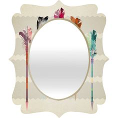 Iveta Abolina Seafoam Quatrefoil Mirror