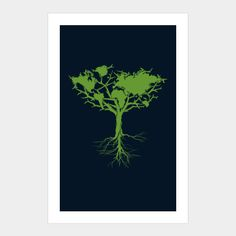 Earth Tree Art Print