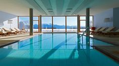 The Hotel Gitschberg in Meransen in South Tyrol is a boutique hotel in the middle of the mountain with a perfect location for skiing and hiking. Indoor Pools, Thing 1, Resort Spa, Hotels And Resorts, A Boutique, The Incredibles, Interior Design, House, Furniture