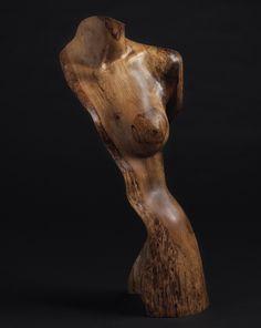 Wood sculpture Figurative, Cista,Female nude, Fine art Sculpture, by Chad Awalt-Fine Art and Sculpture in wood
