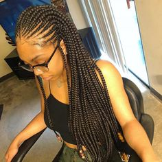 50 Classy Cornrows Braids for Black Women Cornrows have been around for many years now and if there is something certain that it is cornrows are not not just simple hairstyles. Braids Hairstyles - April 20 2019 at Braided Hairstyles For Black Women Cornrows, Cool Braid Hairstyles, African Braids Hairstyles, My Hairstyle, Black Women Hairstyles, Girl Hairstyles, Simple Hairstyles, Cornrolls Hairstyles Braids, Hairstyle Ideas
