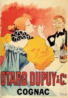 VINTAGE COURVOISIER COGNAC Ad Napoleon Poster Vintage Retro Mid-Century Ad