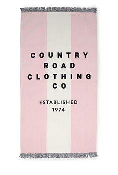Country Road Beach Towel