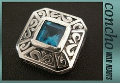 silver925/Aquamarine Zirconium/concho/WILD HEARTS  http://item.rakuten.co.jp/auc-wildhearts/0573t31/