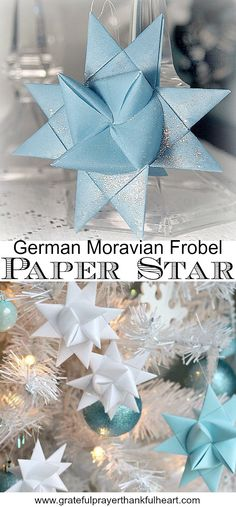German Stars in Wax Tutorial for dipping folded paper German Stars in wax to preserve and protect from outdoor elements.Tutorial for dipping folded paper German Stars in wax to preserve and protect from outdoor elements. German Christmas Traditions, German Christmas Decorations, Diy Christmas Star, German Christmas Ornaments, Christmas Origami, Christmas Paper Crafts, Holiday Crafts, Xmas, Homemade Christmas