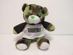 Camo Cuties Plush Camouflage USMC Marine Stuffed Bear #CamoCuties #usmc #marine
