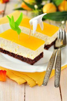 Pomarančovo-tvarohový koláč