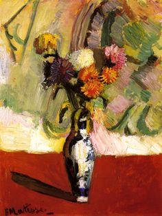 Henri Matisse. Chrysanthemums in a Chinese Vase (1902).