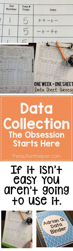The Data Obsession Starts Here Taking data gives us the facts about what is (or isn't) working in our classroom Data Binders, Data Notebooks, Autism Classroom, Special Education Classroom, Future Classroom, Classroom Ideas, Teacher Organization, Teacher Tools, Teacher Stuff