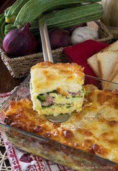 Sformato di pancarrè zucchine,prosciutto e mozzarella
