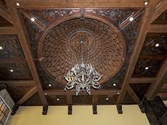 Hand-carved wood ceiling & dome...