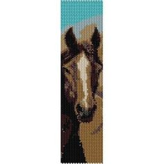 CHOCOLATE BEAUTY HORSE - peyote (loom) beading pattern for cuff bracelet (buy any 2 patterns - get 3rd FREE) http://beadpatternsplus.ecrater.com/