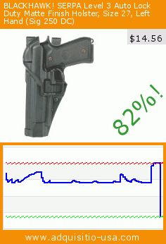 BLACKHAWK! SERPA Level 3 Auto Lock Duty Matte Finish Holster, Size 27, Left Hand (Sig 250 DC) (Sports). Drop 82%! Current price $14.56, the previous price was $79.99. https://www.adquisitio-usa.com/black-hawk-inc/serpa-level-3-auto-lock-16