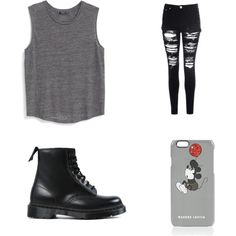 casual by cydn on Polyvore featuring polyvore fashion style MANGO Glamorous Dr. Martens Markus Lupfer