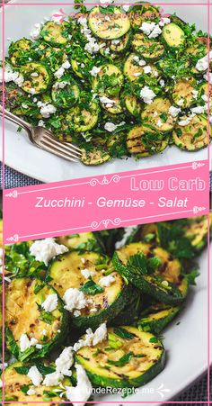 Zucchini – Gemüse – Salat - This zucchini vegetable salad recipe is both a vegetable side dish and a warm zucchini salad. Zucchini Vegetable, Vegetable Salad Recipes, Vegetable Side Dishes, Healthy Salad Recipes, Healthy Snacks, Dinner Healthy, Turkey Recipes, Potato Recipes, Southern Recipes