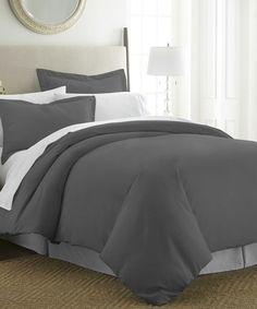 This Gray Ultra-Soft Duvet Set by iEnjoy Bedding is perfect! #zulilyfinds