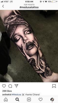 Dope Tattoos, Forarm Tattoos, Creepy Tattoos, Cool Tattoos For Guys, Badass Tattoos, Head Tattoos, Unique Tattoos, Body Art Tattoos, Thigh Tattoo Men